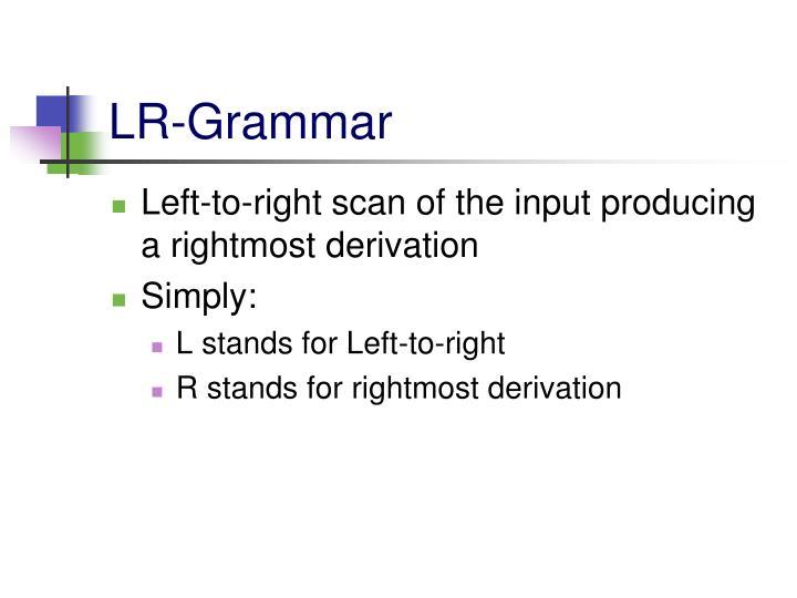 LR-Grammar