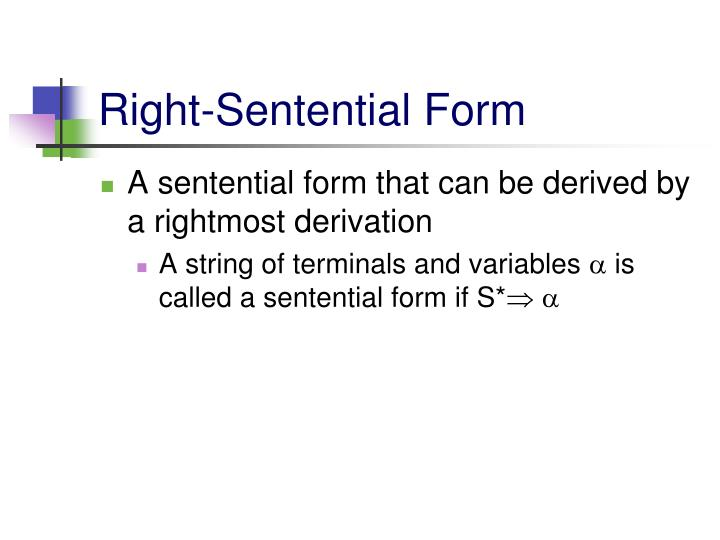 Right-Sentential Form