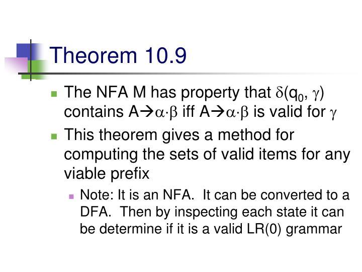 Theorem 10.9