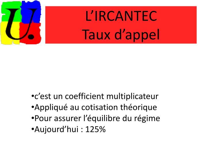 L'IRCANTEC