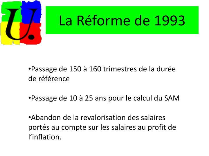 La Réforme de 1993