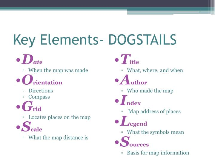 Key Elements- DOGSTAILS