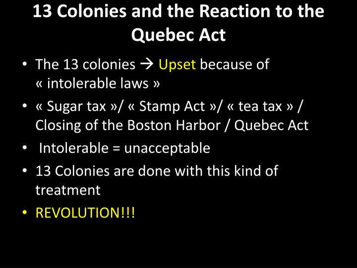 13 Colonies and the