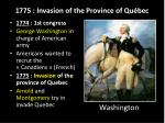 1775 invasion of the province of qu bec