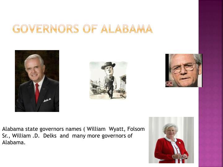 Governors of Alabama