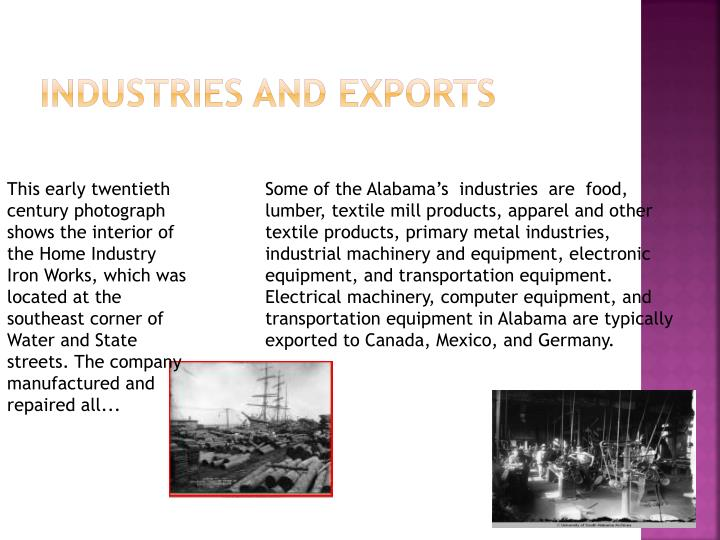 Industries and Exports