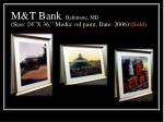m t bank baltimore md size 24 x 36 media oil paint date 2006 sold