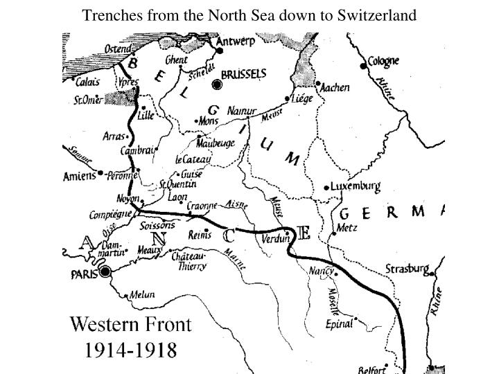 Trenches from the North Sea down to Switzerland