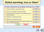 global warming true or false