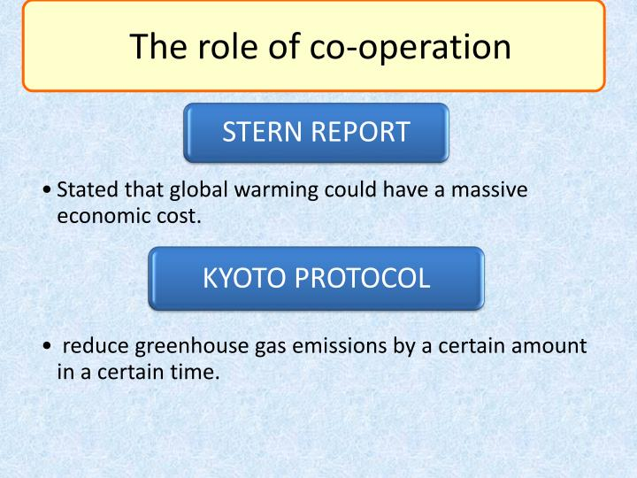The role of co-operation