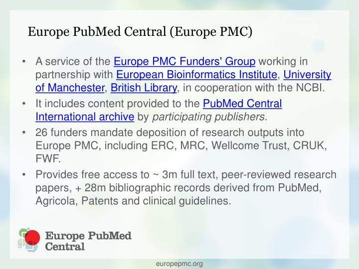 Europe PubMed Central (Europe PMC)