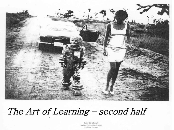 The Art of Learning – second half