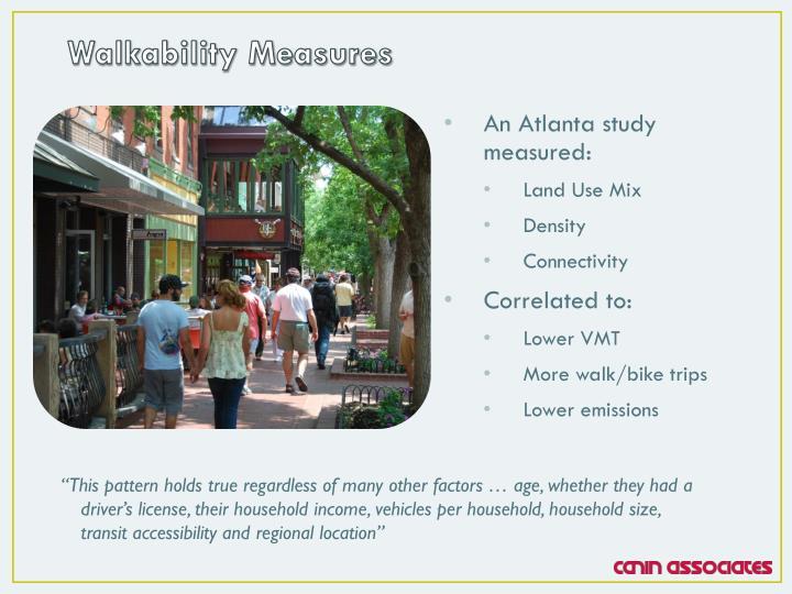 Walkability Measures