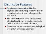 distinctive features13