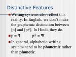 distinctive features15
