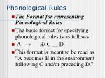 phonological rules15