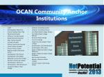 ocan community anchor institutions