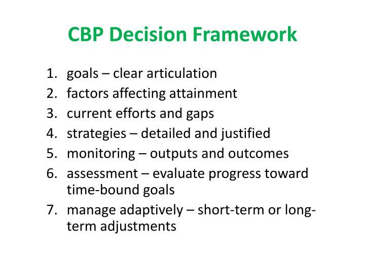 CBP Decision Framework