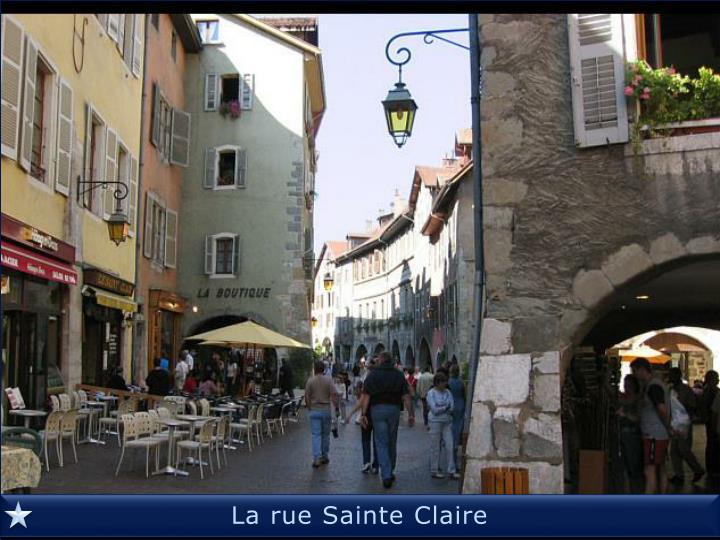 La rue Sainte Claire