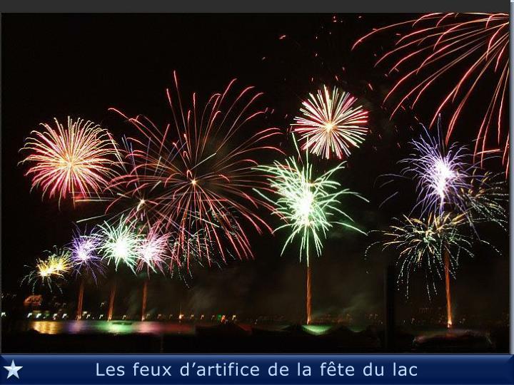 Les feux d'artifice de la fête du lac