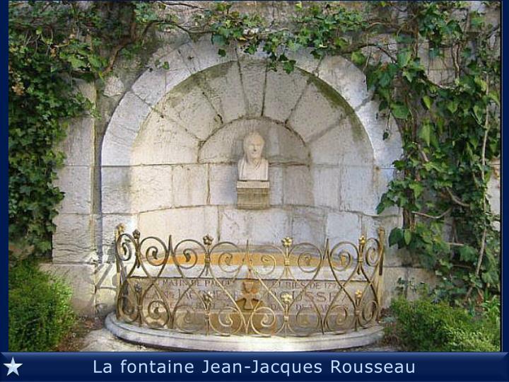La fontaine Jean-Jacques Rousseau