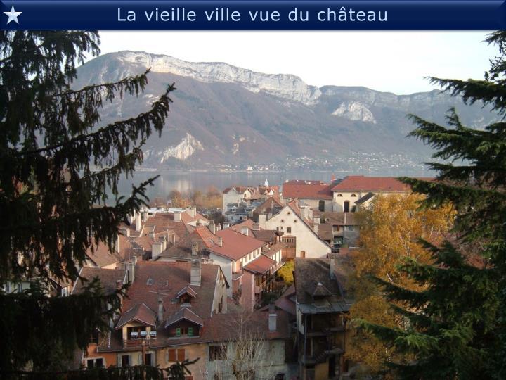 La vieille ville vue du château