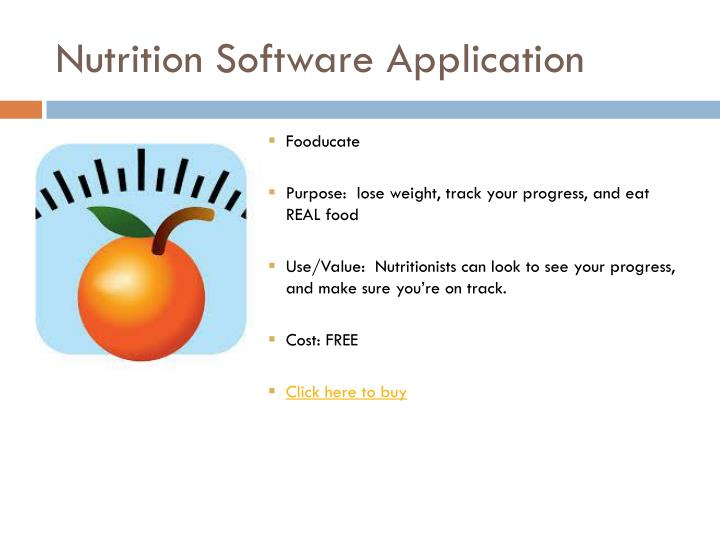 Nutrition Software Application