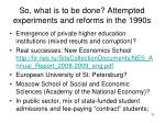 so what is to be done attempted experiments and reforms in the 1990s