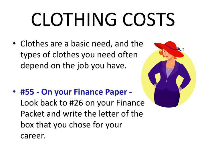 CLOTHING COSTS