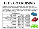 let s go cruising