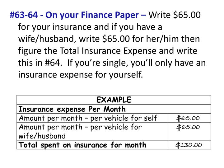 #63-64 - On your Finance Paper –