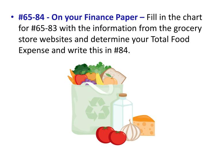 #65-84 - On your Finance Paper –