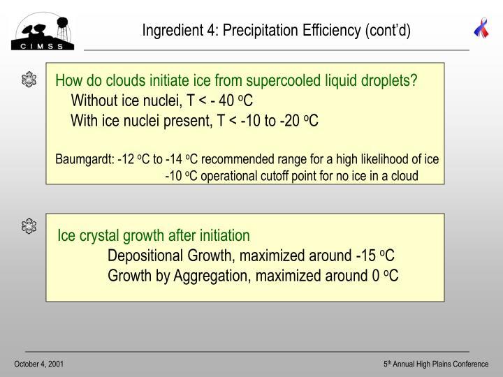 Ingredient 4: Precipitation Efficiency (cont'd)