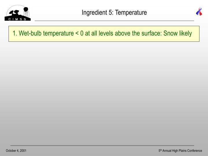Ingredient 5: Temperature