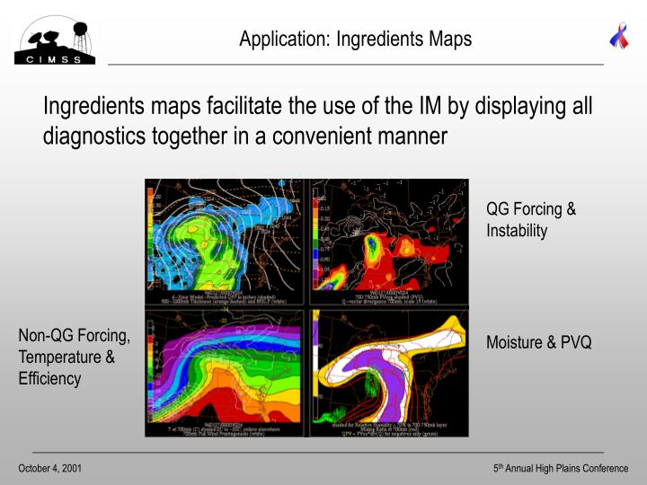 Application: Ingredients Maps