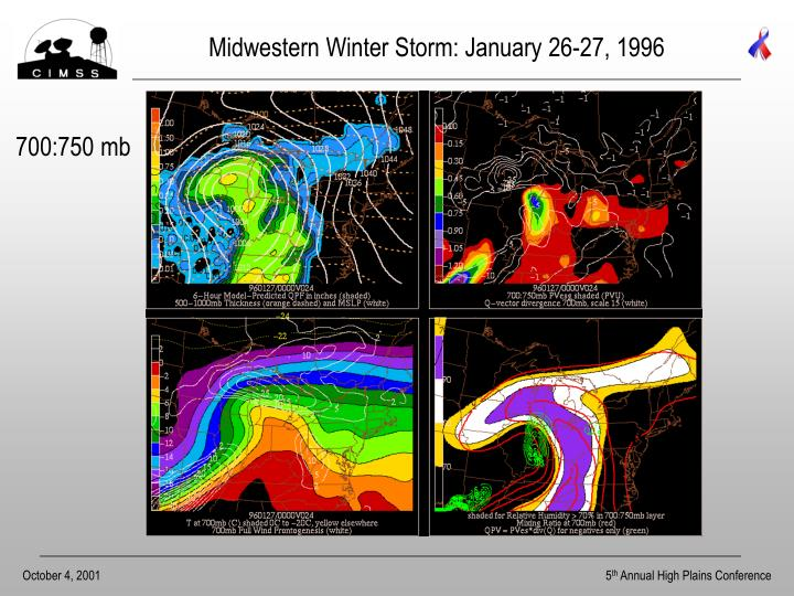 Midwestern Winter Storm: January 26-27, 1996