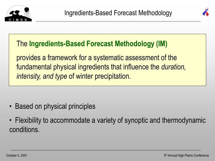 Ingredients-Based Forecast Methodology