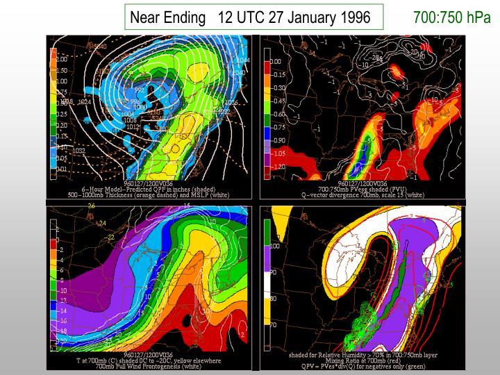 Near Ending   12 UTC 27 January 1996