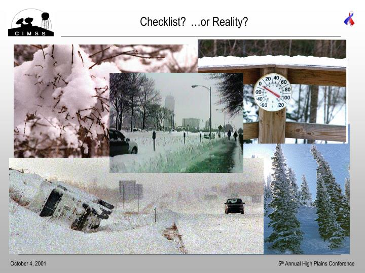 Checklist?