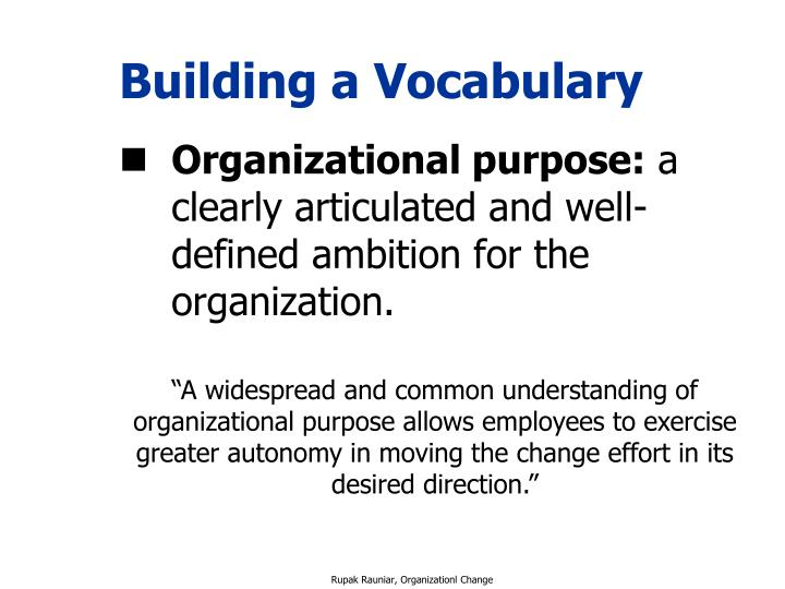 Building a Vocabulary