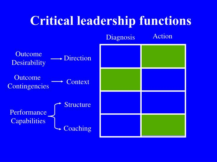 Critical leadership functions