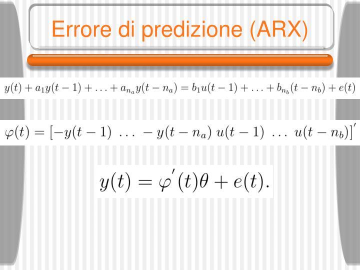Errore di predizione (ARX)