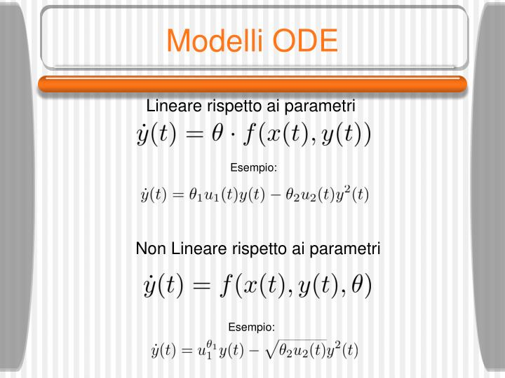 Modelli ODE