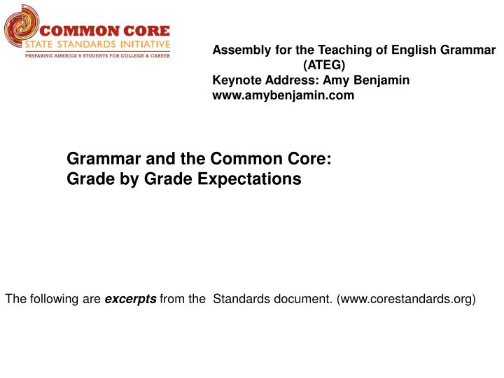 Assembly for the Teaching of English Grammar