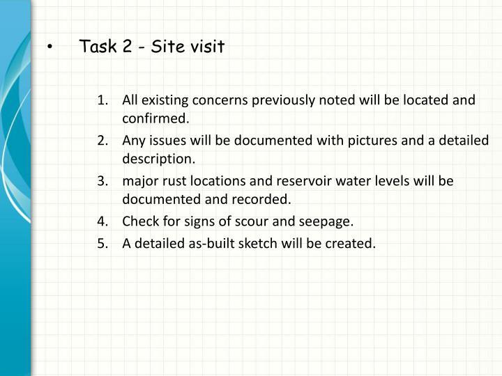 Task 2 - Site visit