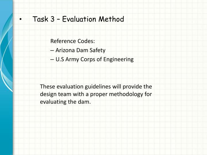 Task 3 – Evaluation Method