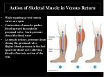 action of skeletal muscle in venous return