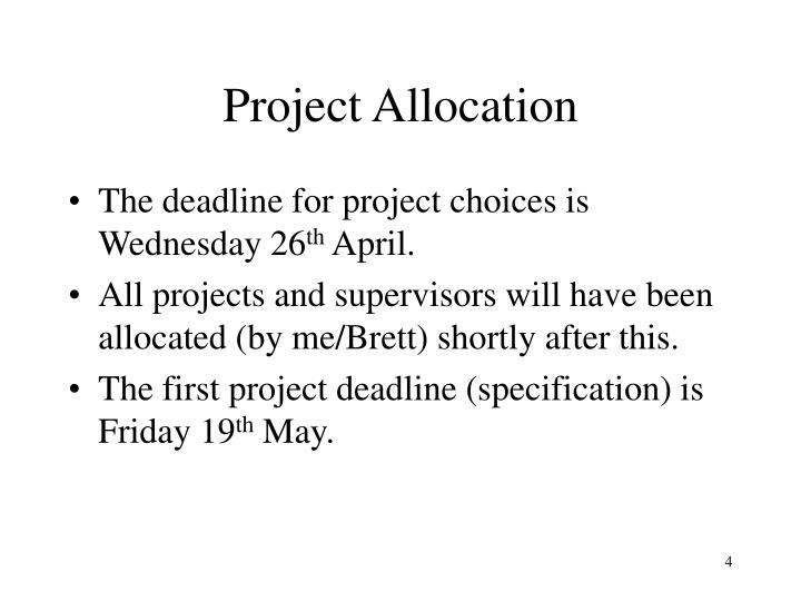 Project Allocation