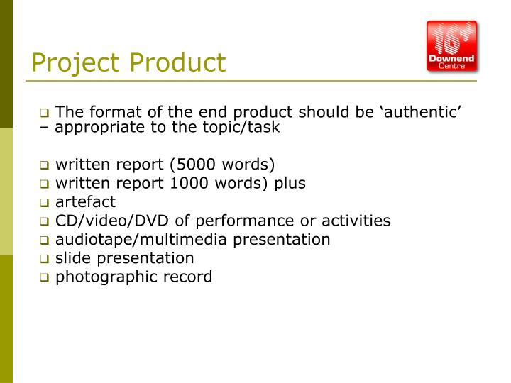 Project Product