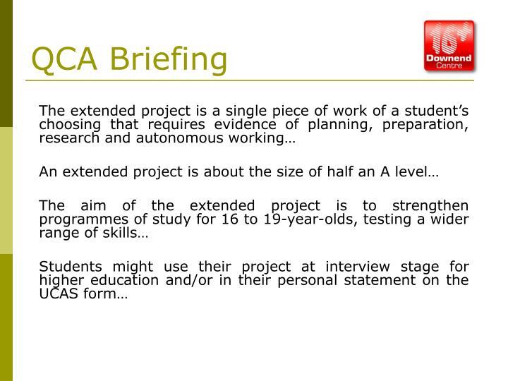QCA Briefing